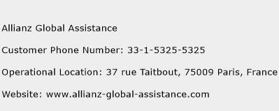 Allianz Global Assistance Phone Number Customer Service