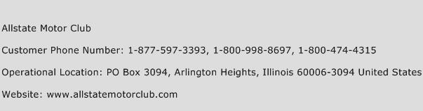 Allstate Motor Club Phone Number Customer Service