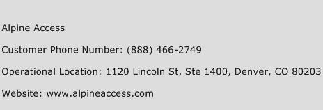 Alpine Access Phone Number Customer Service