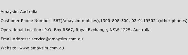 Amaysim Australia Phone Number Customer Service