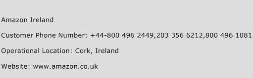 Amazon Ireland Phone Number Customer Service
