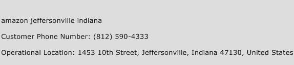 Amazon Jeffersonville Indiana Phone Number Customer Service
