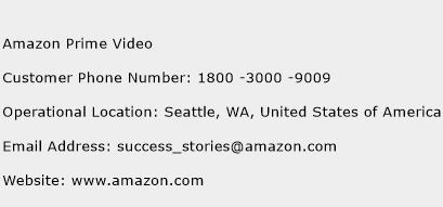 Amazon Prime Video Phone Number Customer Service