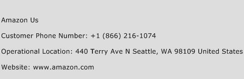 Amazon US Phone Number Customer Service