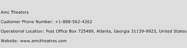 Amc Theaters Phone Number Customer Service