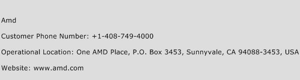Amd Phone Number Customer Service