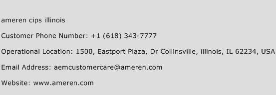 Ameren Cips Illinois Phone Number Customer Service