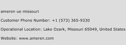 Ameren Ue Missouri Phone Number Customer Service