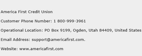 America First Credit Union Phone Number Customer Service