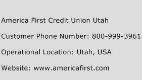 America First Credit Union Utah Customer Service Phone