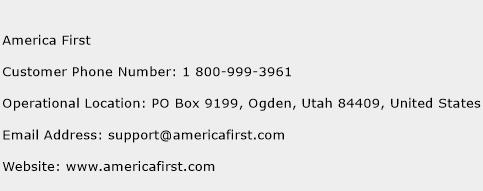 America First Phone Number Customer Service
