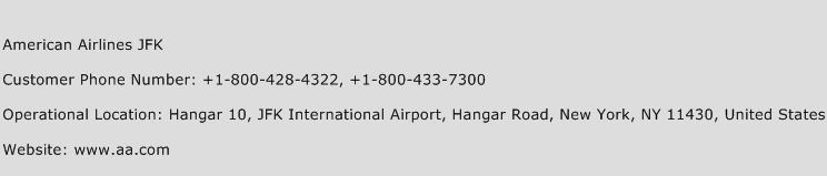 American Airlines JFK Phone Number Customer Service