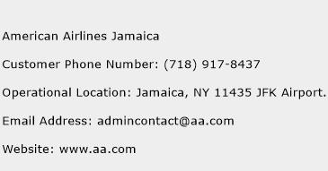 American Airlines Jamaica Phone Number Customer Service