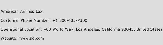 American Airlines Lax Phone Number Customer Service