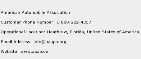 American Automobile Association Phone Number Customer Service
