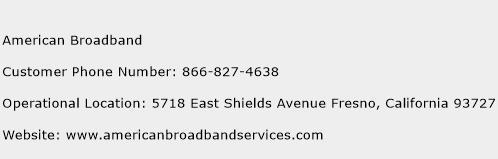 American Broadband Phone Number Customer Service