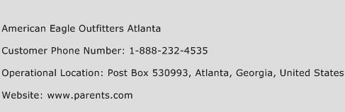 American Eagle Outfitters Atlanta Phone Number Customer Service