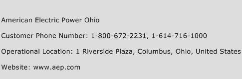 American Electric Power Ohio Phone Number Customer Service