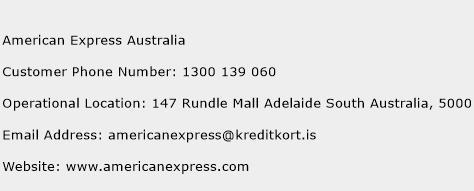 American Express Australia Phone Number Customer Service