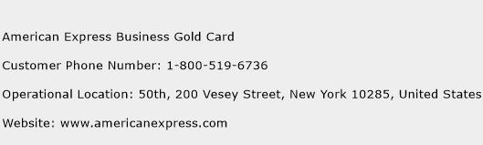 American Express Business Gold Card Phone Number Customer Service
