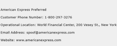 American Express Preferred Phone Number Customer Service