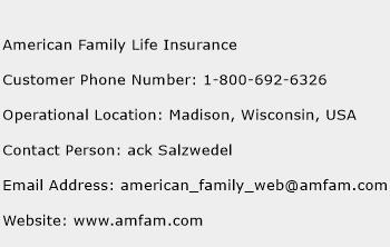 American Family Life Insurance Number | American Family ...