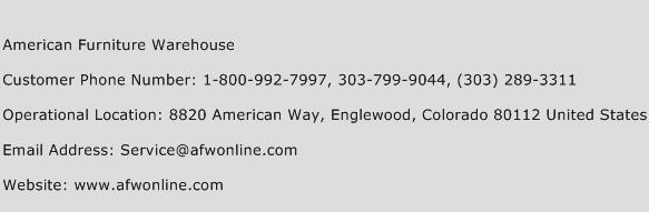 American Furniture Warehouse Phone Number Customer Service