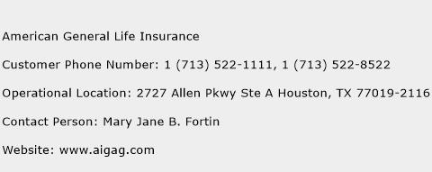 American General Life Insurance Phone Number Customer Service
