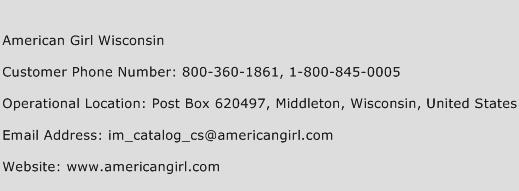 American Girl Wisconsin Phone Number Customer Service