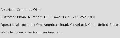 American Greetings Ohio Phone Number Customer Service