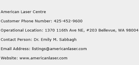 American Laser Centre Phone Number Customer Service
