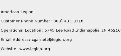 American Legion Phone Number Customer Service