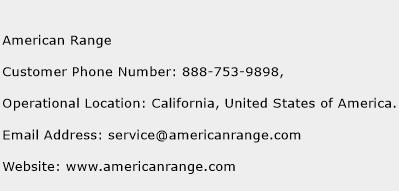 american range customer service phone number contact. Black Bedroom Furniture Sets. Home Design Ideas