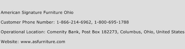 American Signature Furniture Ohio Phone Number Customer Service