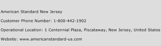 American Standard New Jersey Phone Number Customer Service