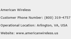 American Wireless Phone Number Customer Service