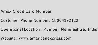 Amex Credit Card Mumbai Phone Number Customer Service