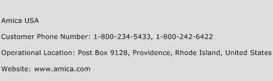 Amica USA Phone Number Customer Service
