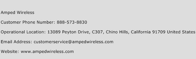 Amped Wireless Phone Number Customer Service