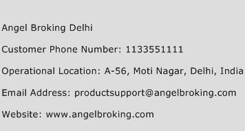 Angel Broking Delhi Phone Number Customer Service