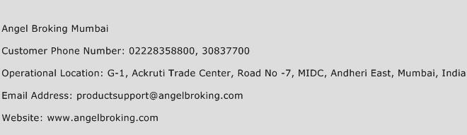 Angel Broking Mumbai Phone Number Customer Service