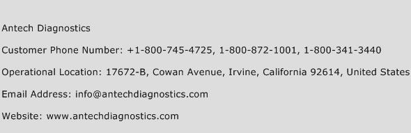 Antech Diagnostics Phone Number Customer Service