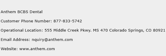 Anthem BCBS Dental Number   Anthem BCBS Dental Customer ...