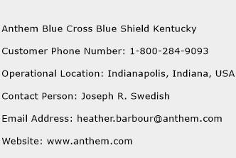 Anthem Blue Cross Blue Shield Kentucky Phone Number Customer Service