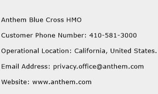 Anthem Blue Cross HMO Number | Anthem Blue Cross HMO ...