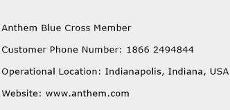 Anthem Blue Cross Member Phone Number Customer Service