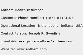 Anthem Health Insurance Number | Anthem Health Insurance ...