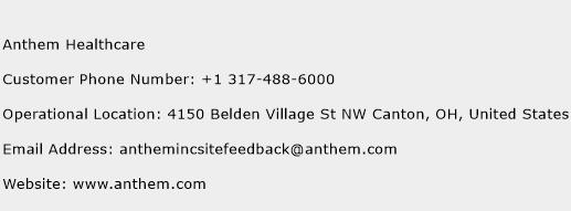 Anthem Healthcare Phone Number Customer Service
