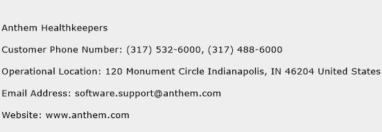 Anthem Healthkeepers Number | Anthem Healthkeepers ...