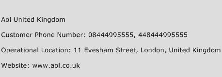 Aol United Kingdom Phone Number Customer Service
